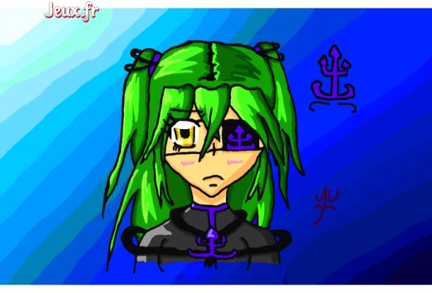 Fille aux cheveux verts comme l'herbe fille-avec-les-cheveux-verts